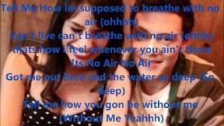 No Air - Rachel & Finn (LYRICS)