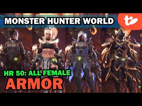 Monster Hunter World: All High Rank Female Armor Sets through HR 50