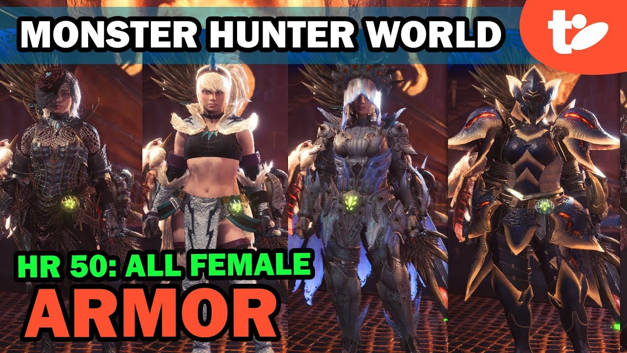 monster hunter world female armor