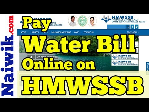 Pay HMWSSB Water Bill Online | Hyderabad Metropolitan Water Supply