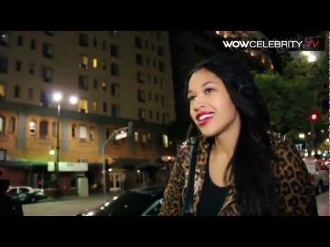 Kali Hawk helps a homeless man with $100 donation in Hollywood