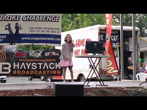 Sam's first song for the Oregon Karaoke Challenge