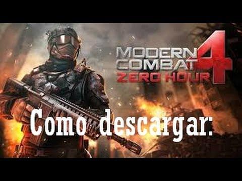 Descargar modern combat 4 android (paso a paso)