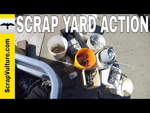 Scrap Yard Action!! - 4 Bicycle Loads of Dumpster Dive Scrap Metal at the Recycling Scrap Yard