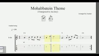 Mohabbatein theme