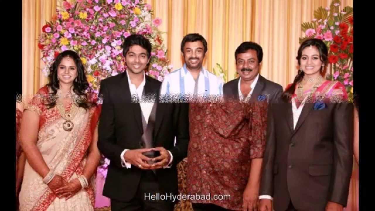 G V Prakash Ar Wedding Reception