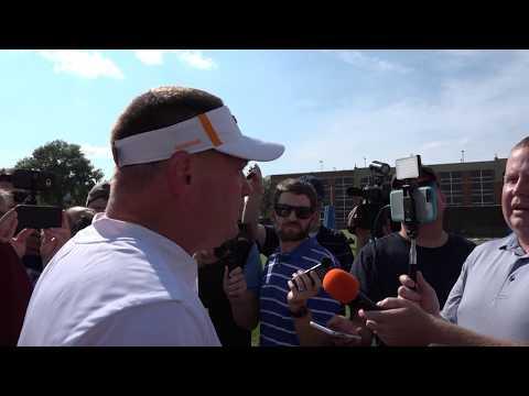 Tennessee Football Camp - Butch Jones Post-Practice 8.15.17