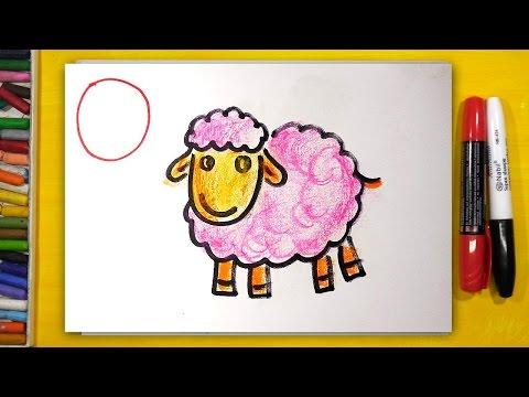 Рисуем Алфавит   Буквы М Н О П   Урок рисования для детей