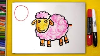 Рисуем Алфавит | Буквы М Н О П | Урок рисования для детей