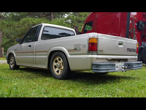 Walk around of my lowered 1988 mazda b2200