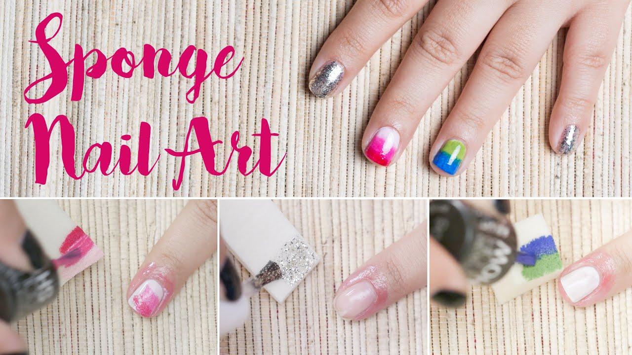3 Nail Art Technique Using Sponge Beginners Series Youtube