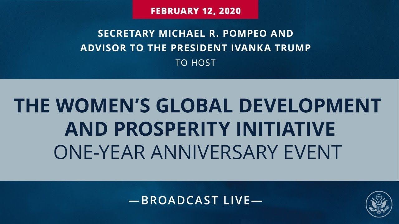 The Women's Global Development and Prosperity Initiative One-Year Anniversary Event
