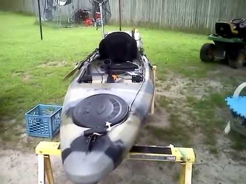 Fishing kayak setup youtube for Field and stream fishing kayak