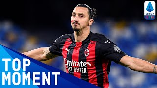 Zlatan is showing no sign of slowing down as he scores an incredible header from the edge box | serie a tim this official channel for serie...