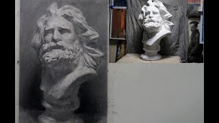 How to draw plaster cast in Pencil
