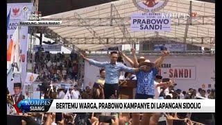 Ditemani AHY, Prabowo Subianto Kampanye di Lapangan Sidolig