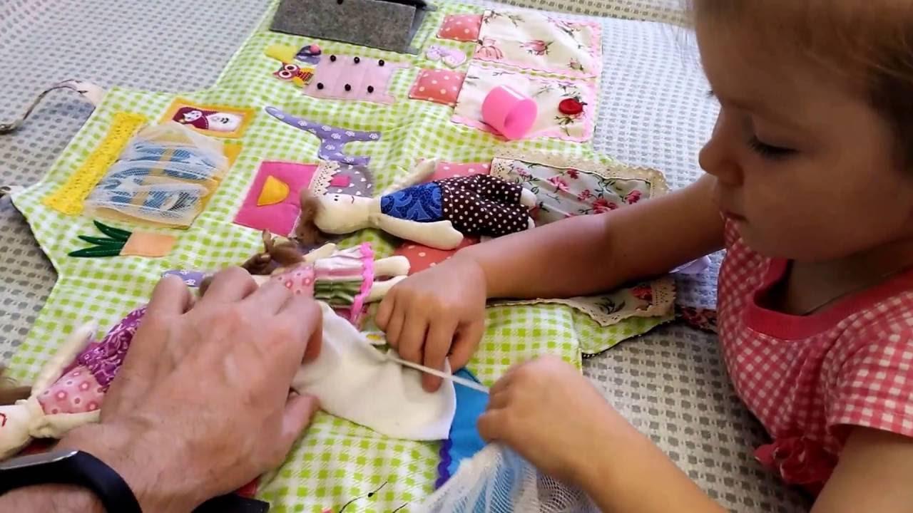 Для кукол домик книжка - YouTube