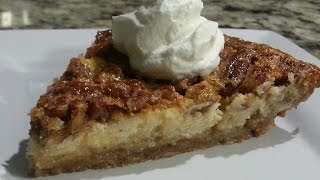 How to Make Pecan Pie Cheesecake with Almond Crust--Sooooo Good!