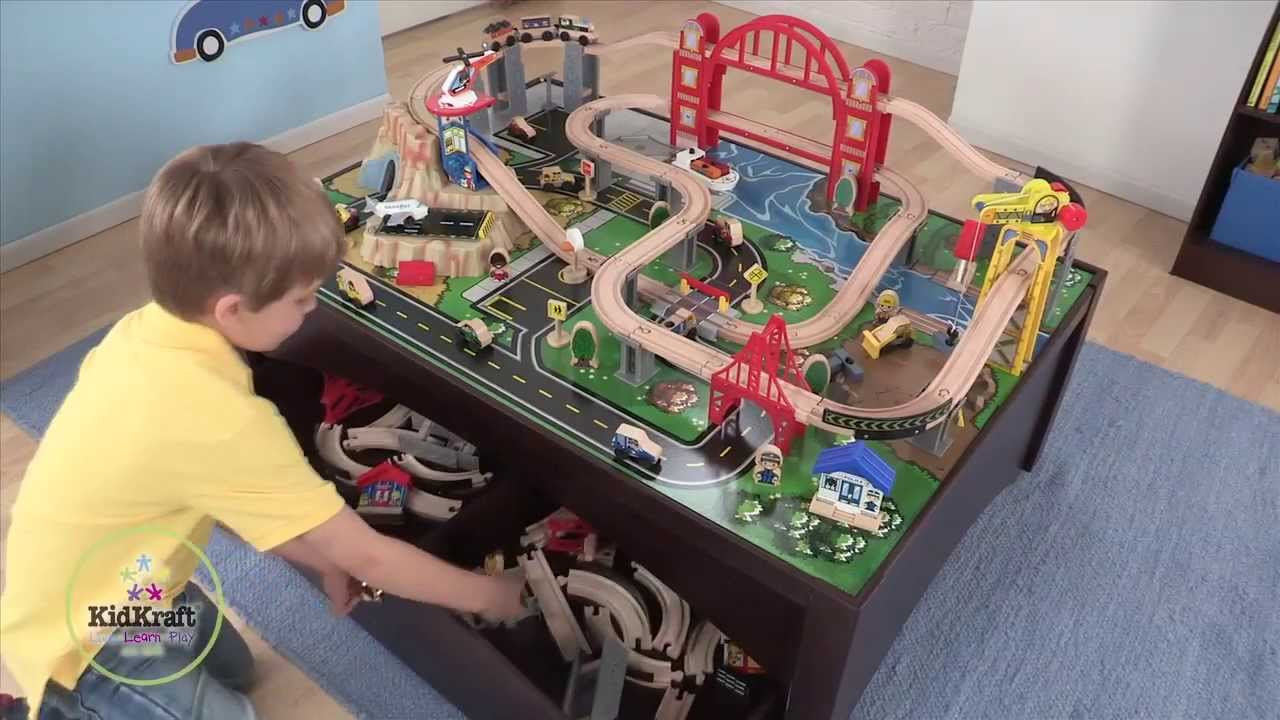 & Metropolis Train Set and Table - YouTube