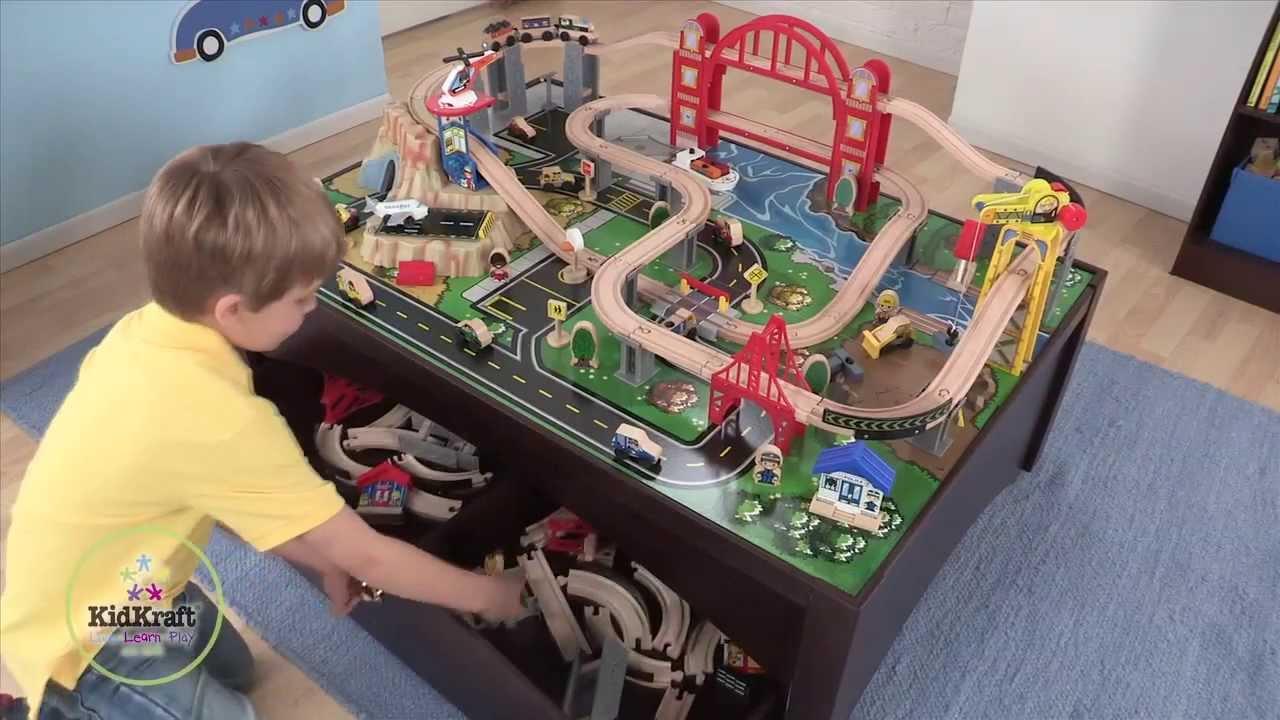 Metropolis Train Set and Table  YouTube