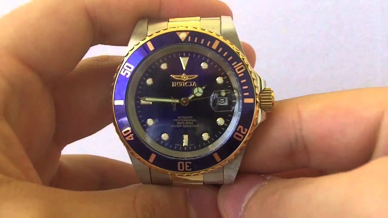 Invicta Watches - Men s 8928 OB Pro Diver Collection Two-Tone Automatic  Watch - YouTube eda9273f4a