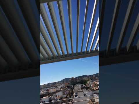 Mobile Louvered Roof installation