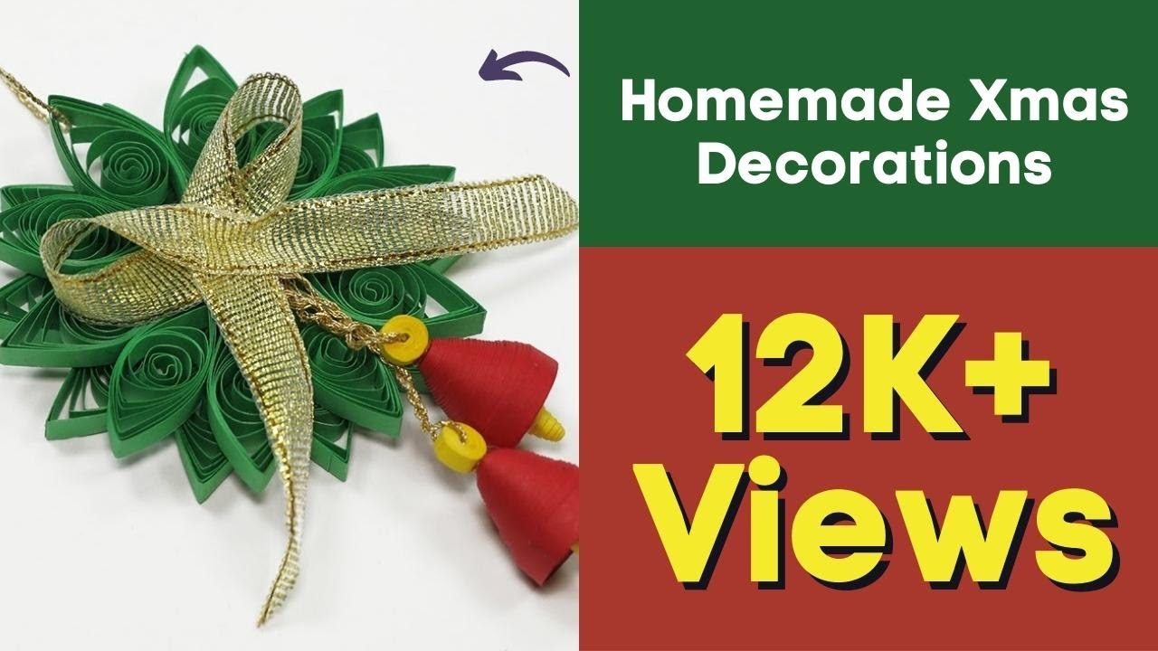 Paper Quilling Diy Christmas Quilling Ornament For Homemade Xmas Decorations