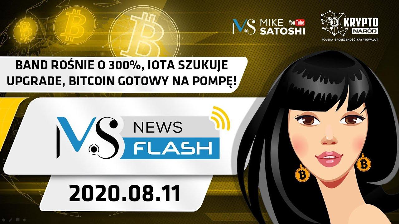 Band rośnie o 300%, Tether ucieka z Trona na ETH, Bitcoin szykuje się do pompy na $14k