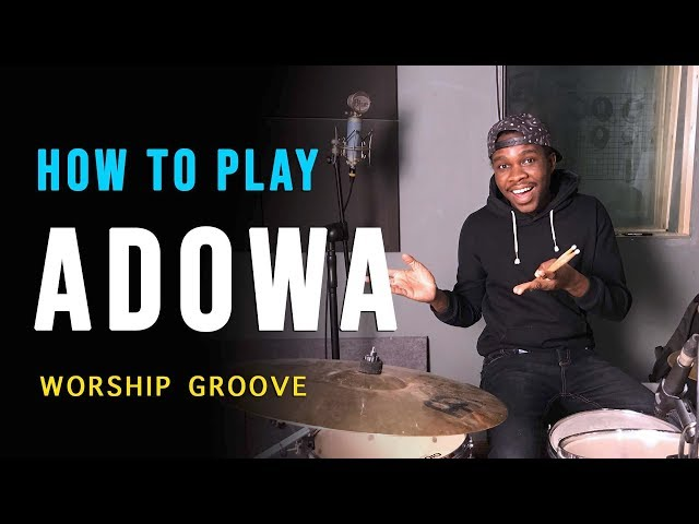 Drum Lesson - How to play Adowa (Ghanaian Worship) Gospel Groove | Jaystiqs
