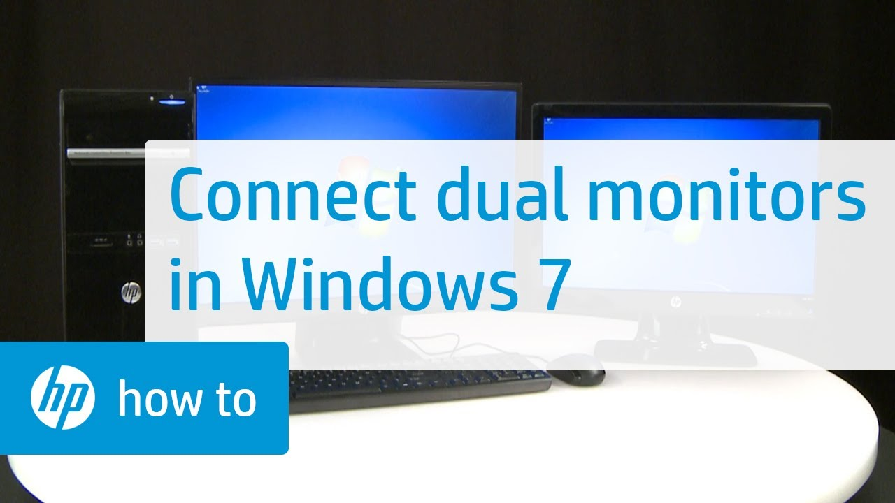 How to Connect Dual Monitors in Windows 7 | HP Computers | HP