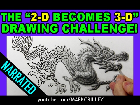 """The """"2-D Becomes 3-D"""" Drawing Challenge: Narrated Version"""