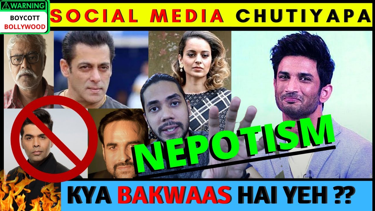 Sushant Singh Rajput Death   Social Media [ Chutiyapa ] Boycott Bollywood   Karan Johar Nepotism SSR