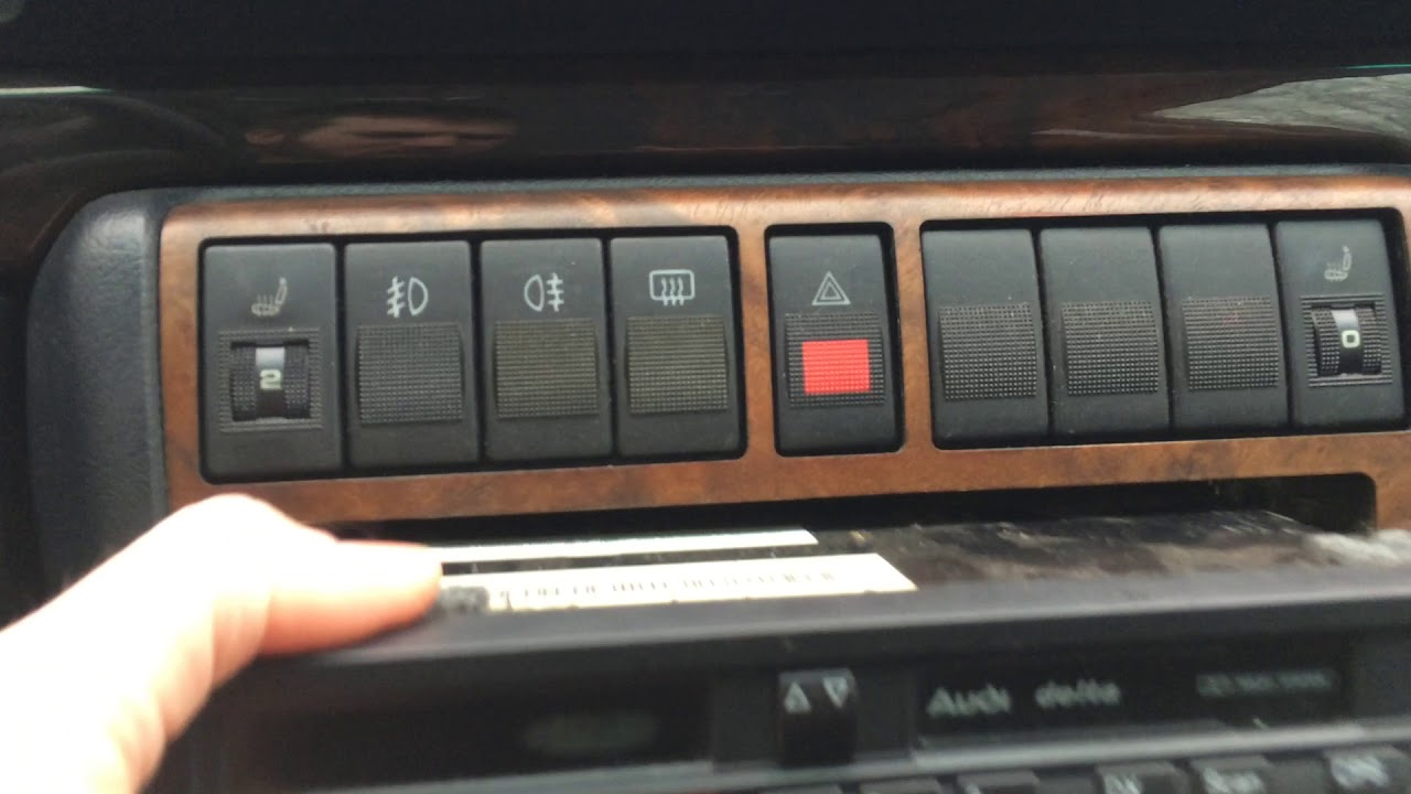 94 01 Audi A4 B5 Faceplate Radio Removal 95 96 97 98 99 00
