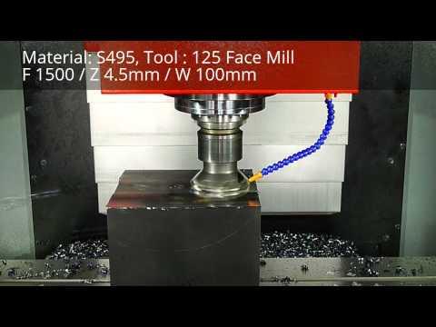 Heavy Duty Cutting Test- SY EM1650 Vertical Machining Center