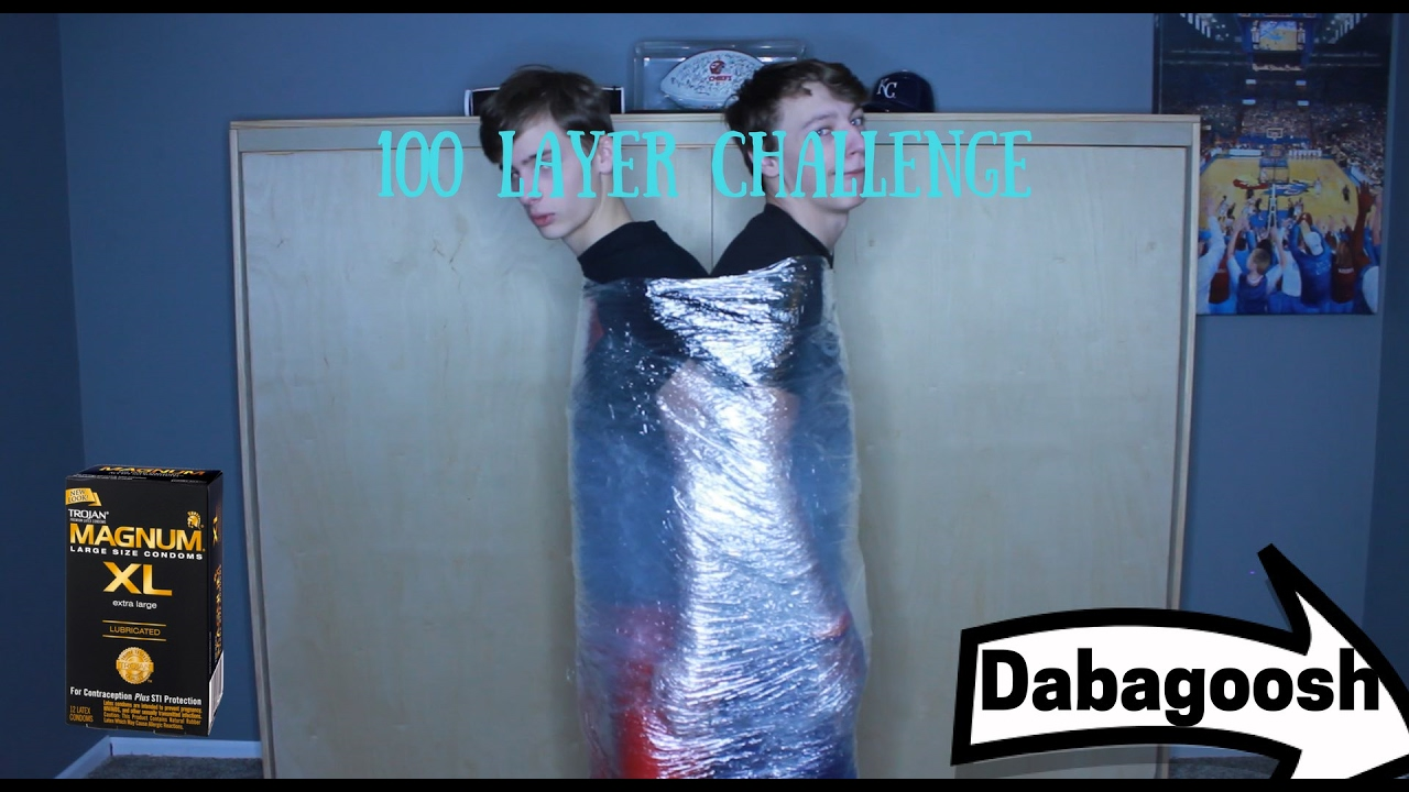 100 Layers Of Saran Wrap  Condom Challenge - Youtube-1028