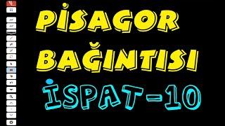 İSPAT : PİSAGOR TEOREMİ - 10 ( TYT GEOMETRİ - DİK ÜÇGEN ) Video