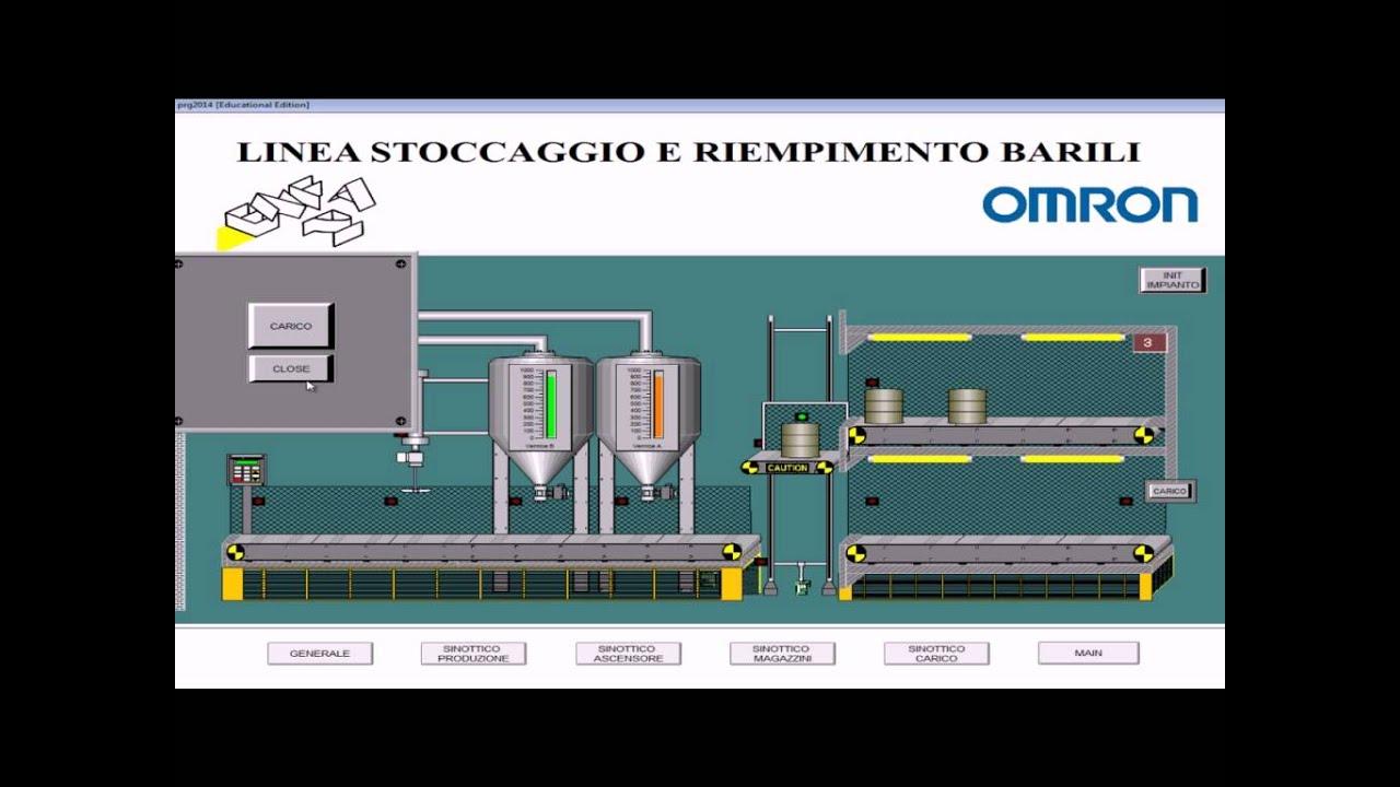 Smart Project Omron 2014, Linea di stoccaggio e riempimento barili per vernici