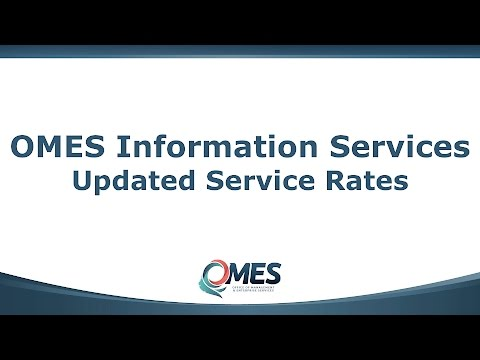 OMES Information Services Updated Service Rates