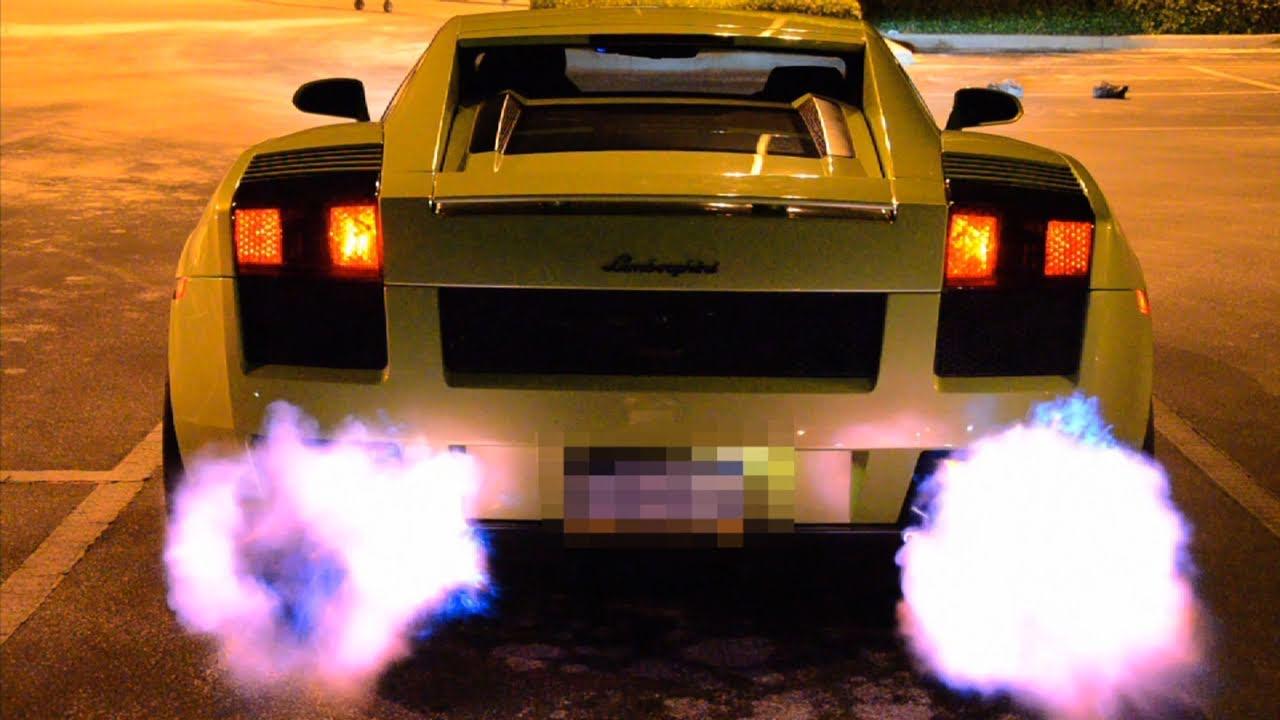 Lamborghini Shooting Flames (Twin Turbo Gallardo)   YouTube