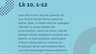 #Ewangelia | 4 października 2018 | (Łk 10, 1-12)
