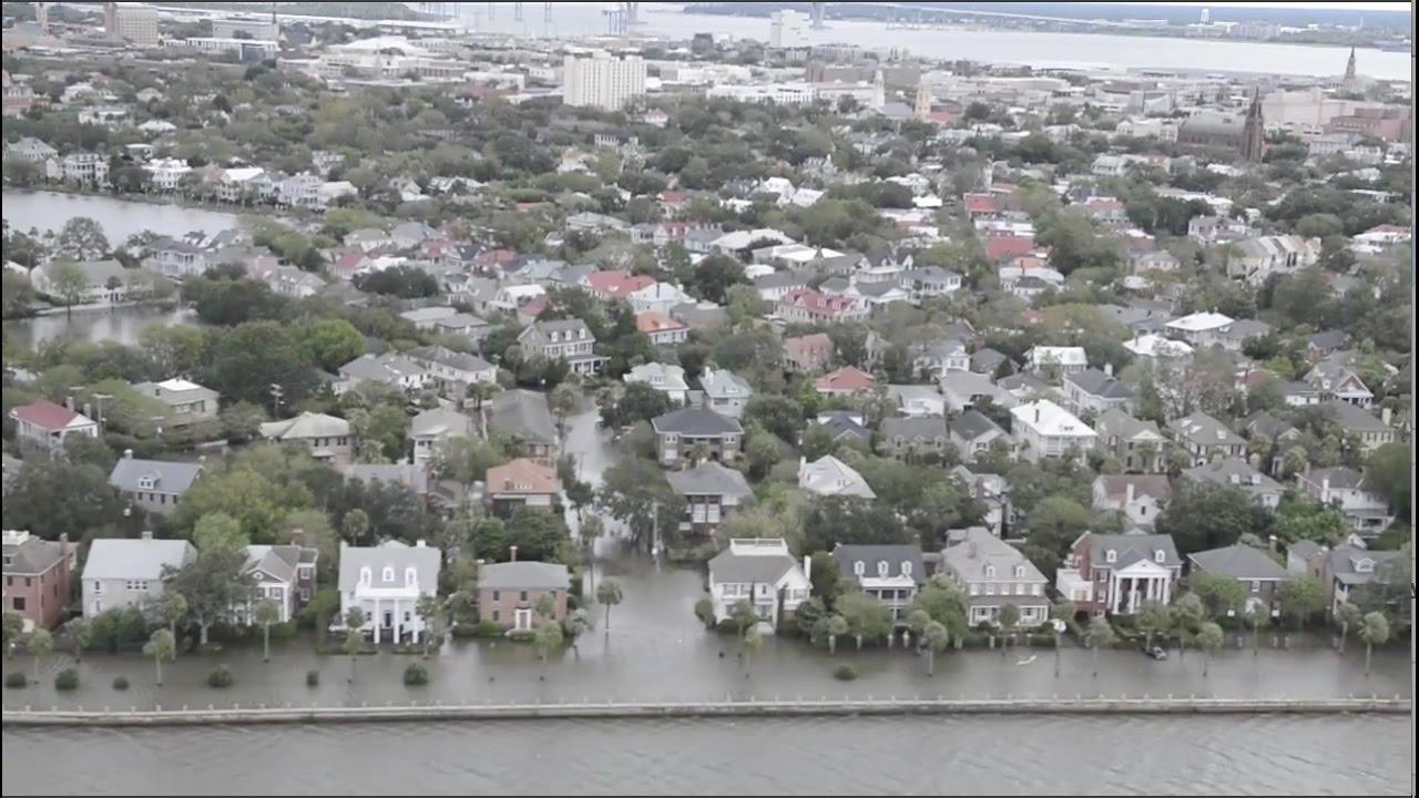 Hurricane Matthew Floods Charleston Sc Aerial View