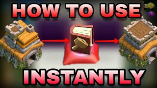 CLASH OF CLANS : how to use magical item ( book of building ) in clan game