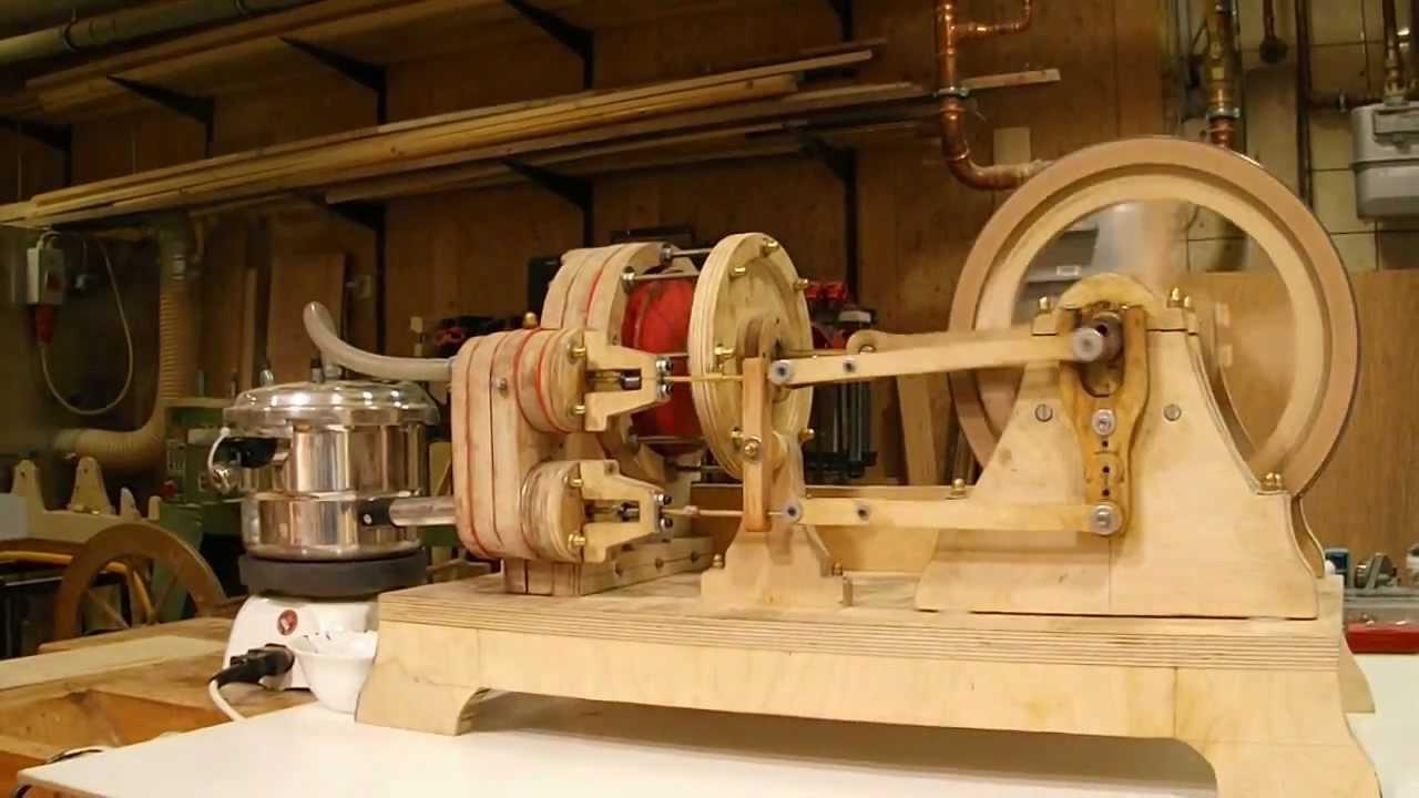 Dampfmaschine Eigenbau Holz