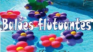 Como deixar Balões flutuando na Piscina.