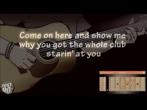 STRAIGHT UP & DOWN - BRUNO MARS (ACOUSTIC GUITAR INSTRUMENTAL / COVER / KARAOKE + LYRICS & CHORDS)