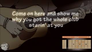 STRAIGHT UP & DOWN - BRUNO MARS (ACOUSTIC GUITAR INSTRUMENTAL / COVER / KARAOKE + LYRICS & CHORDS)