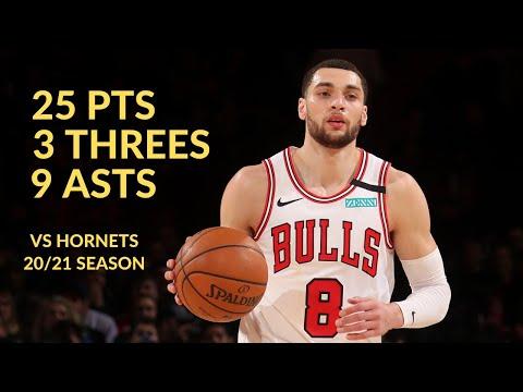Zach LaVine 25 Pts, 9 Asts 6 Rebs Highlights vs Charlotte Hornets