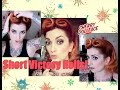 Victory Rolls For Short Hair! Vintage Hair Tutorial by CHERRY DOLLFACE