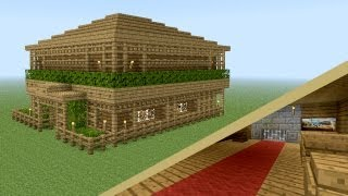 MINECRAFT: How to build wooden tavern