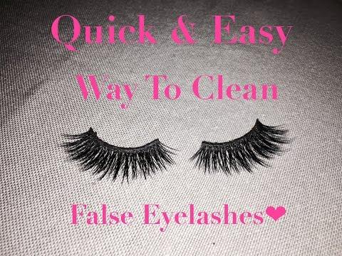 Quick & Easy Way To Clean False Eyelashes | CelesteDennise